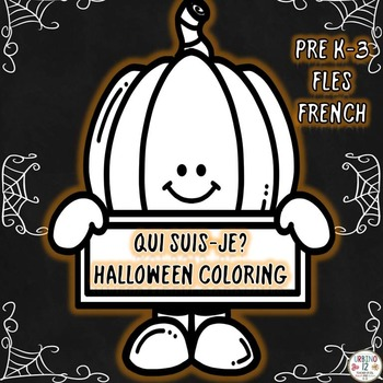 French Halloween Coloring