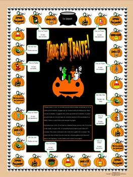 French Halloween Gameboard-Truc ou Traite
