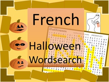 Halloween French Wordsearch