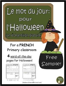 French Halloween word of the day (le mot du jour: pour la