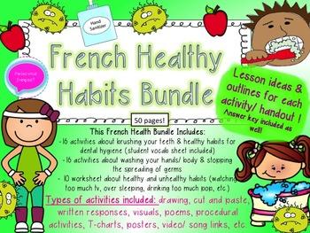 French Healthy Choices Bundle- La sante- Teeth, Washing Ha