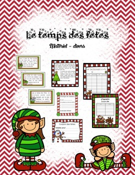 French Holiday / Christmas visual - Le temps des fêtes - M