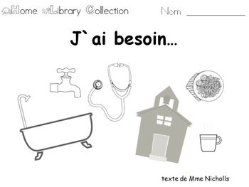 French Home Reading Collection, J`ai besoin v.2