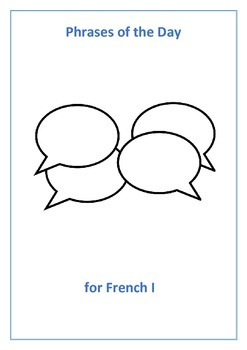 French I,II, and III Phrases of the Day - Bundle
