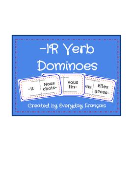 French -IR Verb Present Tense Dominoes
