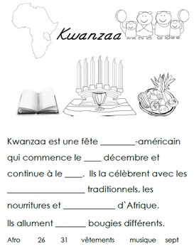 French Immersion, Celebration no.16 - Kwanzaa