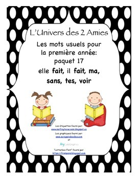 French Immersion Grade 1 Sight Words Package 17