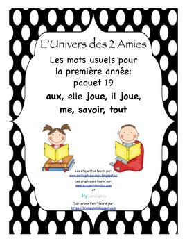 French Immersion Grade 1 Sight Words Package 19