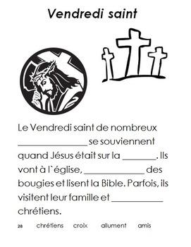 French Immersion, Celebration no.28 - Vendredi Saint