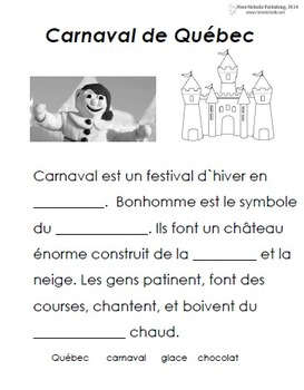 French Immersion, Celebration no.19 - Carnaval de Québec