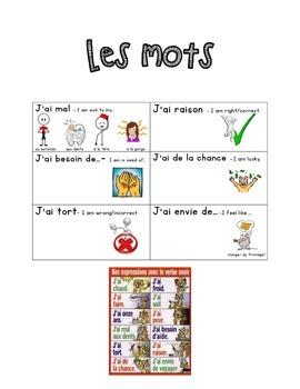 French Immersion Weekly Words Homework, Bell Work, 14 - Av
