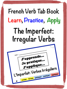 French Imperfect (Irregular Verbs) Tab Book