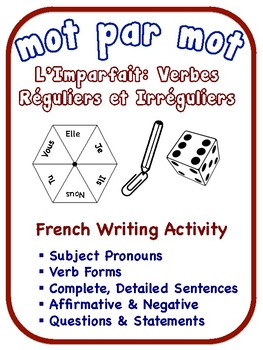 French Imperfect Tense Writing Activities; Regular and Irr