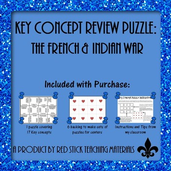 French & Indian War  Key Concept Puzzle