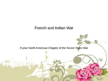 French Indian War PowerPoint