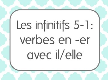 French Infinitive Verbs/Activities Lesson 1: 3rd person si