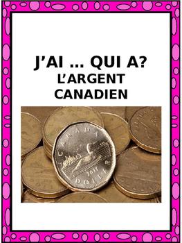 "French: ""J'AI ... QUI A?, L'argent canadien"", Game, Core &"