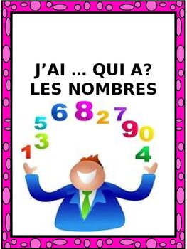 "French: LES NOMBRES ""J'AI ... QUI A?"", Game, Core & Immers"