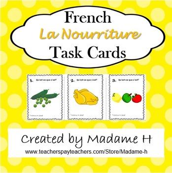 La Nourriture Task Cards