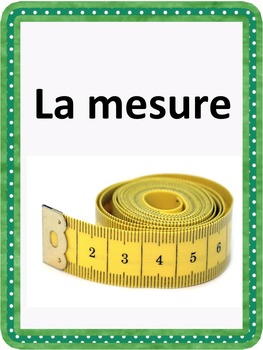 French: La mesure, Cartes éclairs, PRIMAIRE French Immersion