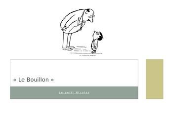 French - Le Petit Nicolas - Le Bouillon vocabulary