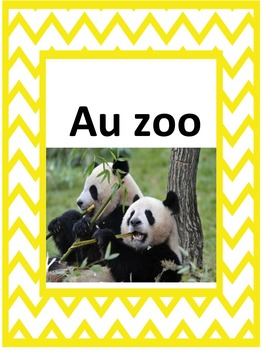 French: Le zoo, Cartes éclairs, Core French & French Immersion