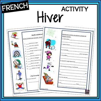 French – Les Activités d'hiver – Winter Activities