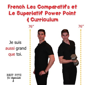 French Les Comparatifs et Le Superlatif Power Point & Curriculum