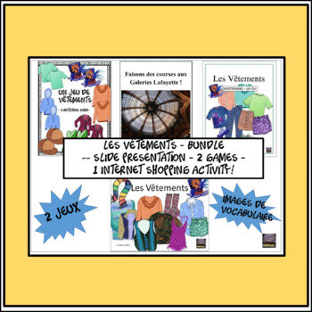 French – Les Vêtements (Clothing) BUNDLE