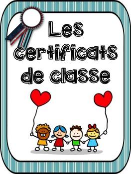 "French: ""Les certificats de classe"", 28 certificats, French"