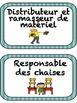 """French: """"Les responsabilités de classe"""", Etiquettes, French"""