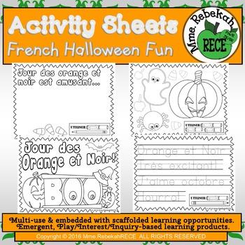 French Literacy Halloween Theme Printables Activity