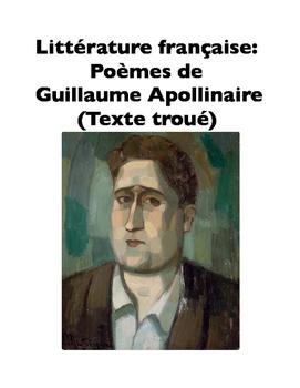 French Literature: Poèmes de Guillaume Apollinaire (Texte troué)