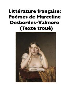 French Literature: Poèmes de Marceline Desbordes-Valmore (