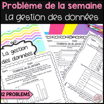 French Math Problem of the Week - Data Management GRADE 3