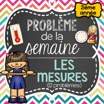 French Math Problem of the Week - Measurement GRADE 2 (Les