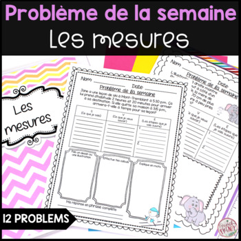 French Math Problem of the Week - Measurement/Les mesures