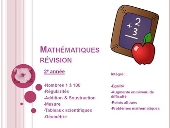 French Math Review, for 2&3, Patterns, Add, Subtract, Meas