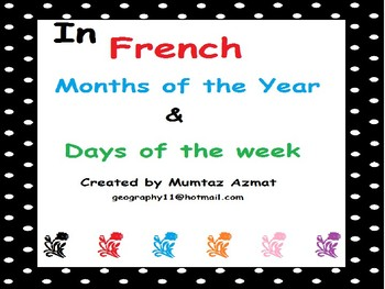 French Months of the Year & Days of the week :
