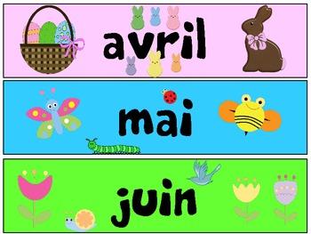 French Months of the Year - Le mois de l'année