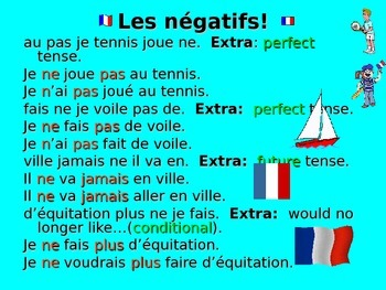 French Teaching Resources: Negatives Unjumbling Plenary/ W
