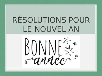 French - New Years Resolutions