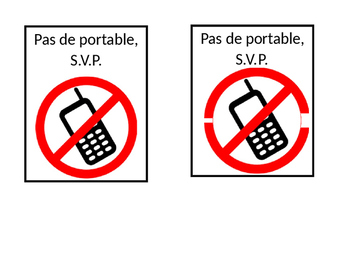 French No cellphone sign