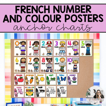 French Number and Colour Anchor Charts / Affiches de numér