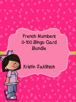 French Numbers 0-100 Bingo Card Bundle