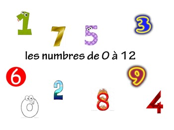 French Numbers 0-12