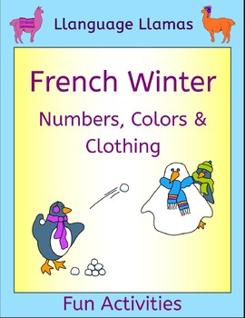 French Winter Activities - Numbers, Colors and Clothing