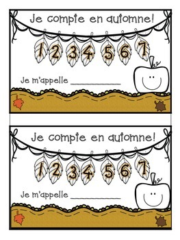 French Autumn Vocabulary and Number Words Activity en Fran