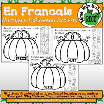 French Numbers Halloween Activity