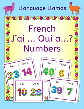 French Numbers up to 50 Les Chiffres J'ai ... Qui a ... Ga
